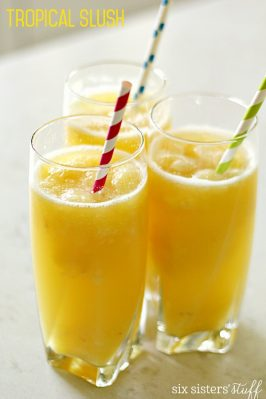 Tropical Banana Slush Punch