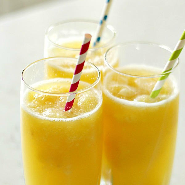 Tropical Banana Slush Punch on SixSistersStuff