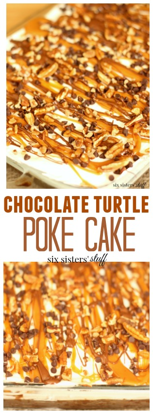 chocolate turtle poke cake pin