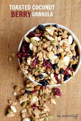 Toasted Coconut Berry Granola