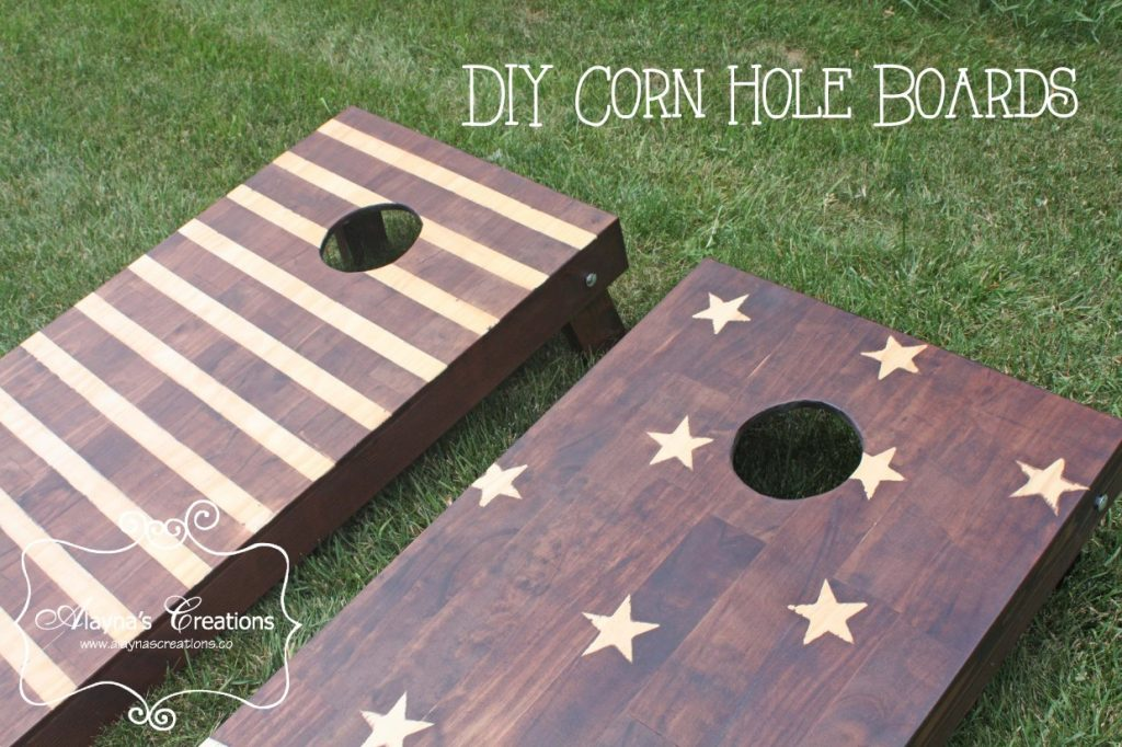 diy-corn-hole-boards-make-your-own-beanbag-toss-yard-game-instructions-for-stain-technique