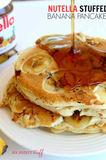 Nutella stuffed pancakes with bananas - how to make homemade pancakes