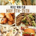 weekly menu plan May 9 15