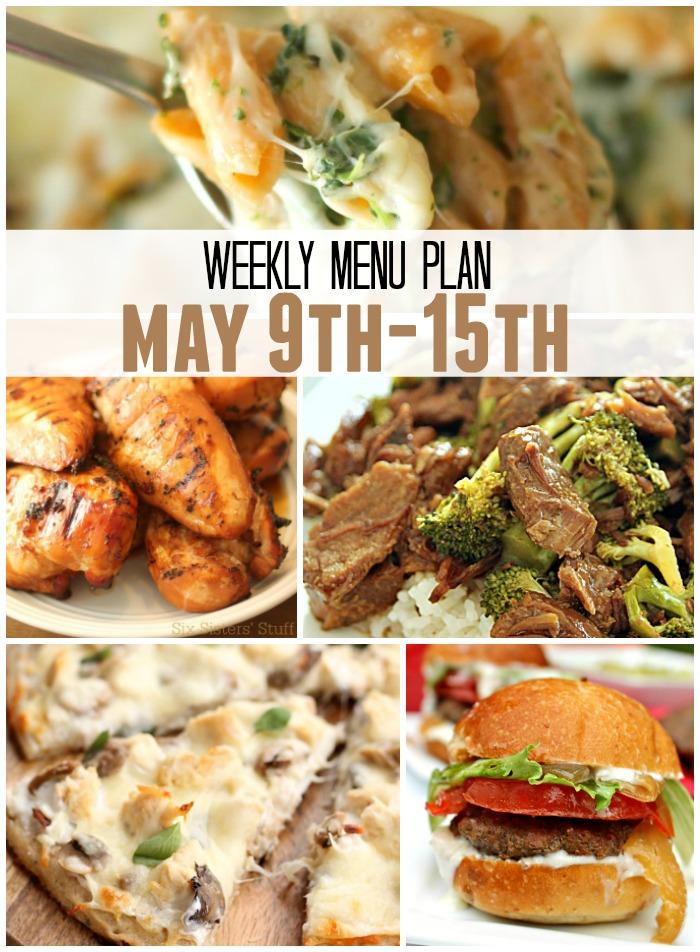 weekly menu plan May 9 15