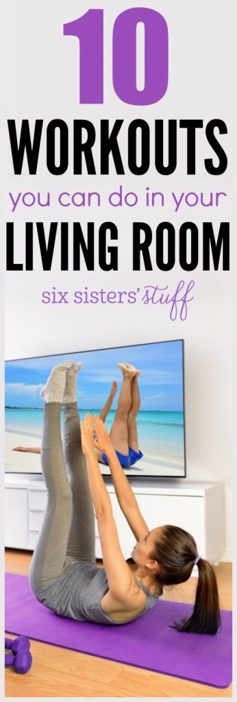 10 Workouts you can do in your Living Room on SixSistersStuff