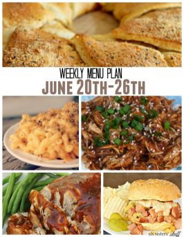Weekly Menu Plan June 20th-26th