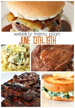 Weekly Menu Plan June 13th-19th