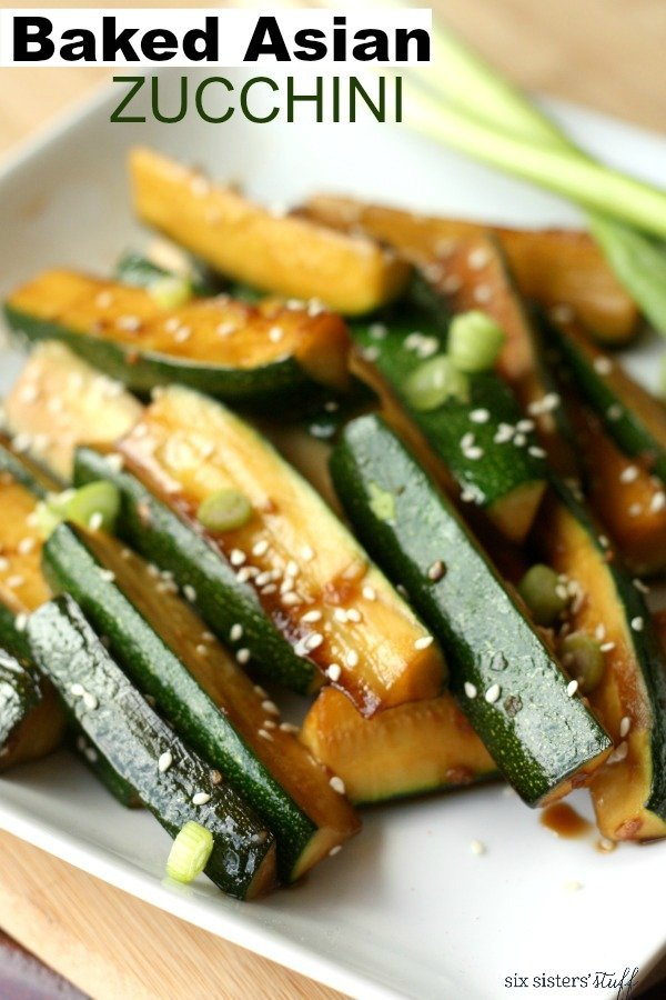 Baked Asian Zucchini