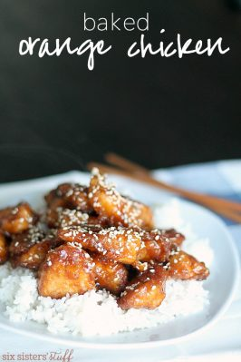 Baked Orange Chicken from SixSistersStuff.com