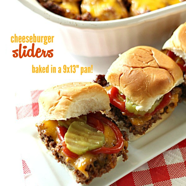 Cheeseburger Sliders from SixSistersStuff