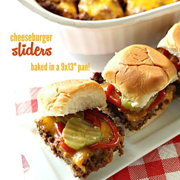 Cheeseburger Sliders from SixSistersStuff