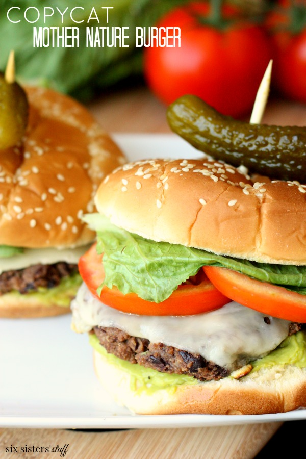 Copycat Mother Nature Burger from Universal Studios