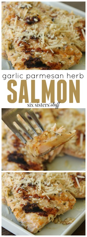 Garlic Parmesan Herb Salmon pin