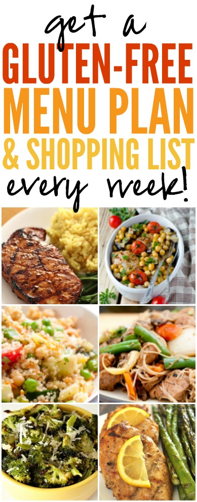 Gluten-Free Menu Plan and Shopping List EVERY Week!