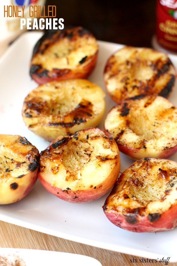 how to grill peaches with honey and cinnamon