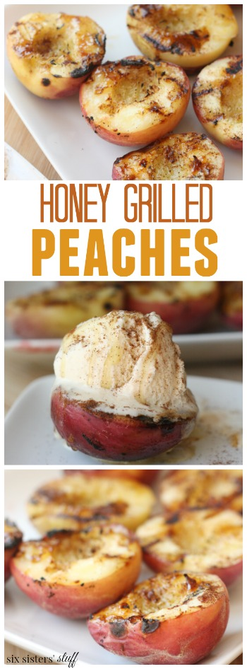 Honey Grilled Peaches pin