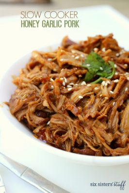 Slow Cooker Honey Garlic Pork