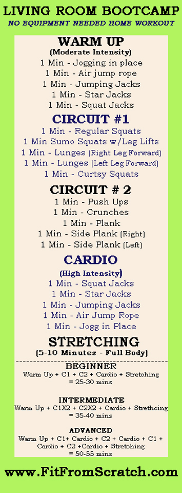 10 workouts you can do in your living room six sisters for Living room exercises