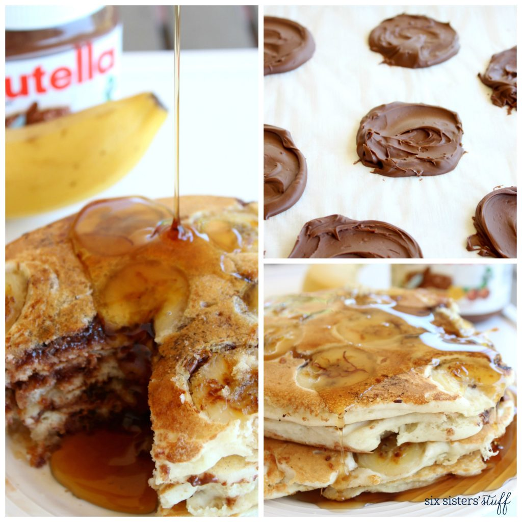 Stuffed Pancakes with Nutella and Bananas