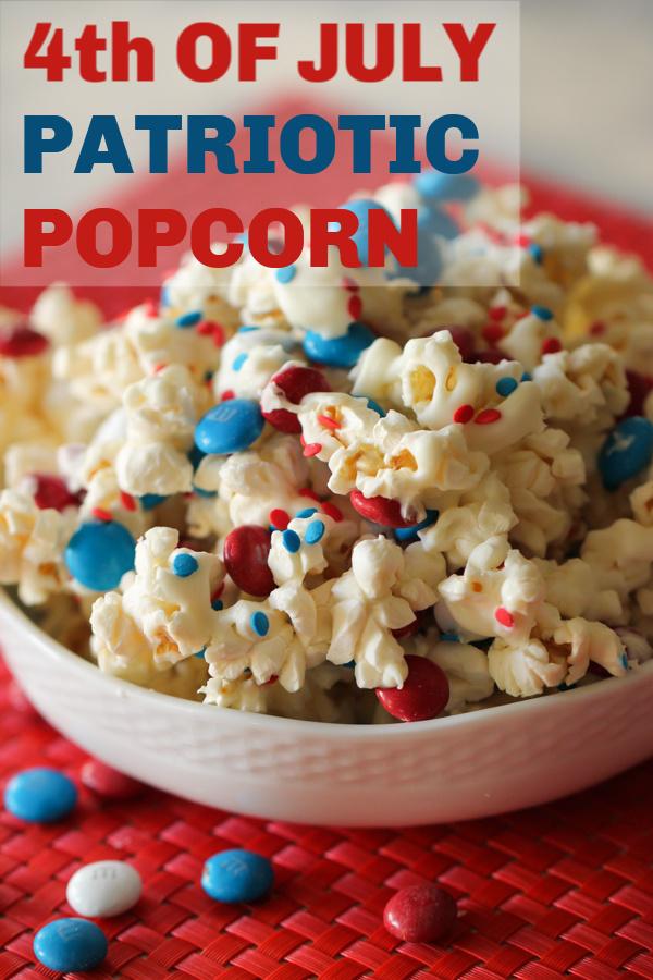 4th of July Patriotic Popcorn