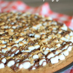 Smore's Cookie Pizza from SixSistersStuff.com