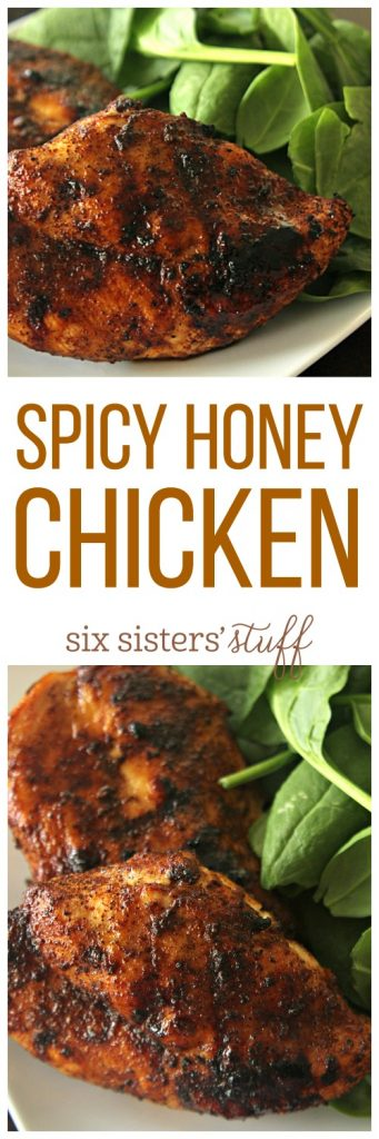 Spicy Honey Chicken from SixSistersStuff