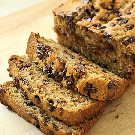 Whole Wheat Chocolate Chip Banana Bread SixSistersStuff