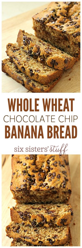 Whole Wheat Chocolate Chip Banana Bread from SixSistersStuff