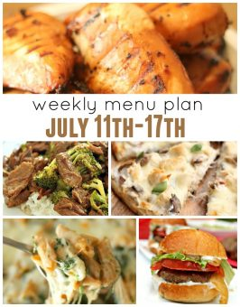 Weekly Menu Plan July 11th-17th