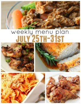 Weekly Menu Plan July 25th-31st