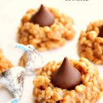 No Bake Peanut Butter Kiss Cookies
