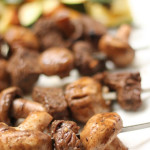 Steak and Mushroom Kabobs Six Sisters' Stuff