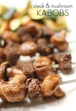 Steak and Mushroom Kabobs