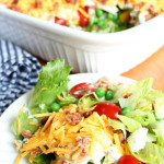 7 layer Vegetable Salad Sixsistersstuff.com