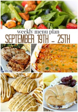 Weekly Menu Plan September 19th – 25th