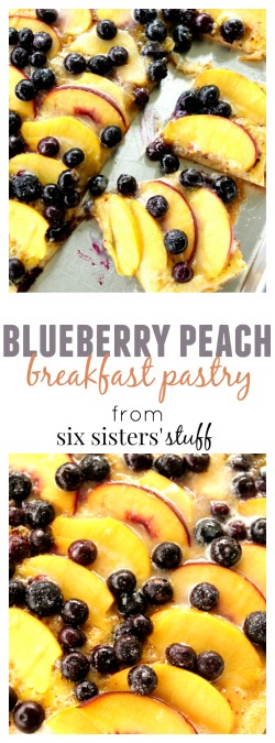 Blueberry Peach Breakfast Pastry pin