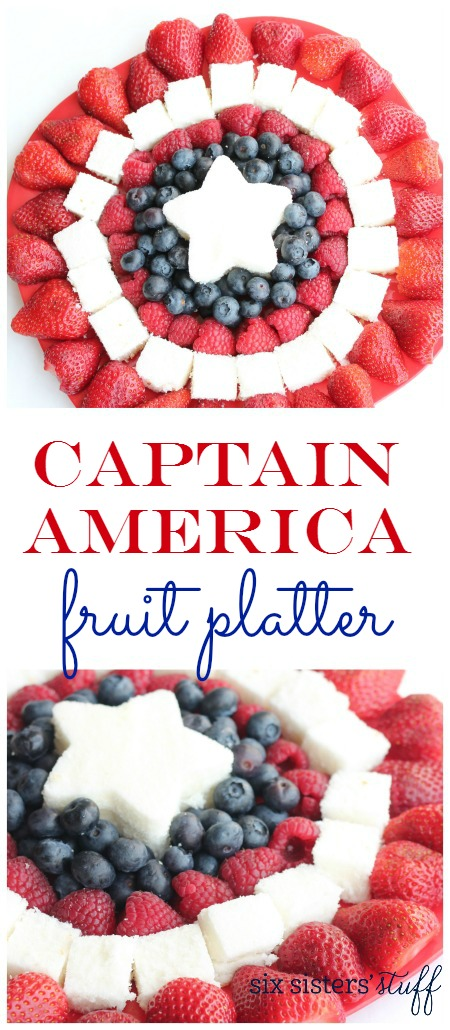 Captain America Fruit Platter 1