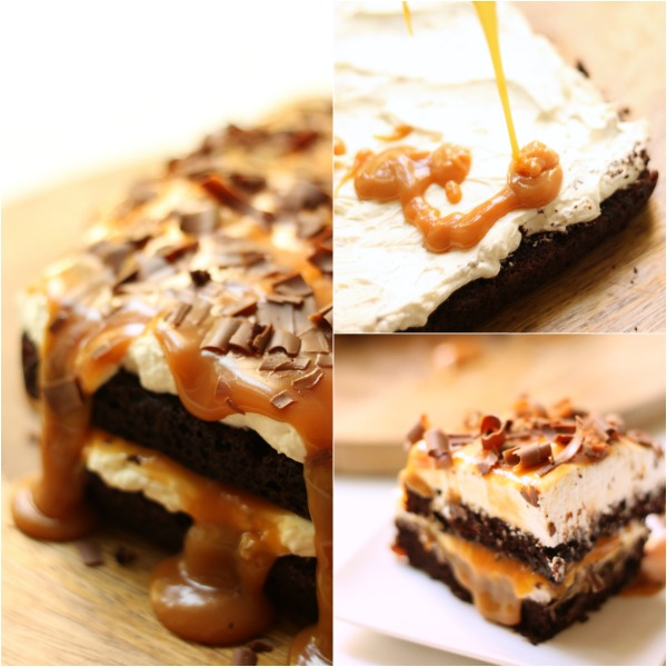 Chocolate Lasagna Collage