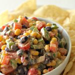 Creamy Black Bean Salsa on SixSistersStuff