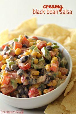 Creamy Black Bean Salsa