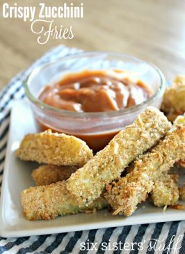 Crispy Zucchini Fries with Creamy BBQ Sauce