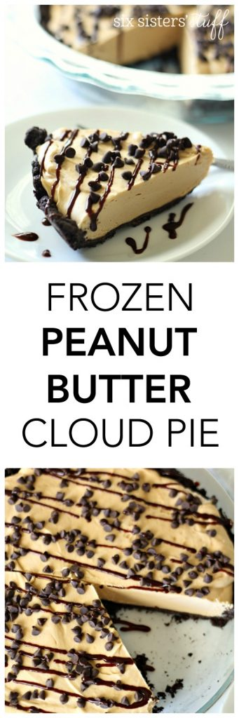Frozen Peanut Butter Cloud Pie from SixSistersStuff