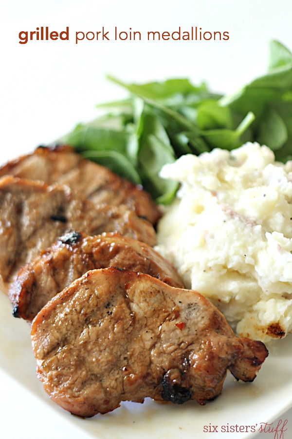 Grilled Pork Loin Medallions on SixSistersStuff