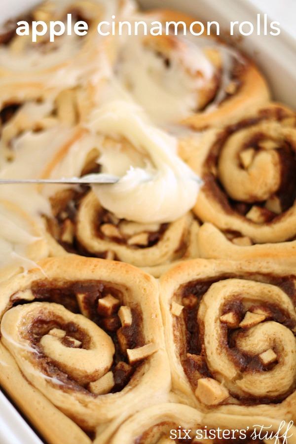 Homemade Apple Cinnamon Rolls Recipe