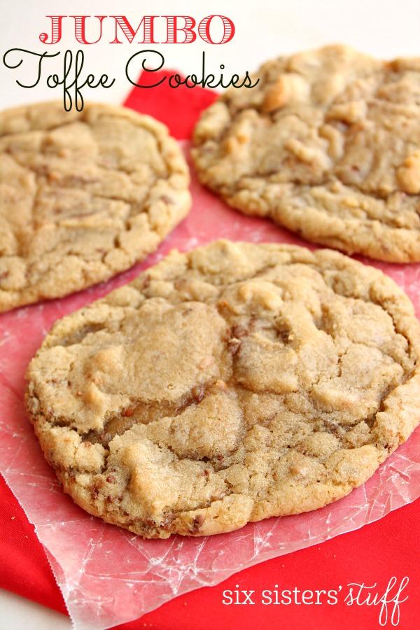 Jumbo Toffee Cookies Recipe