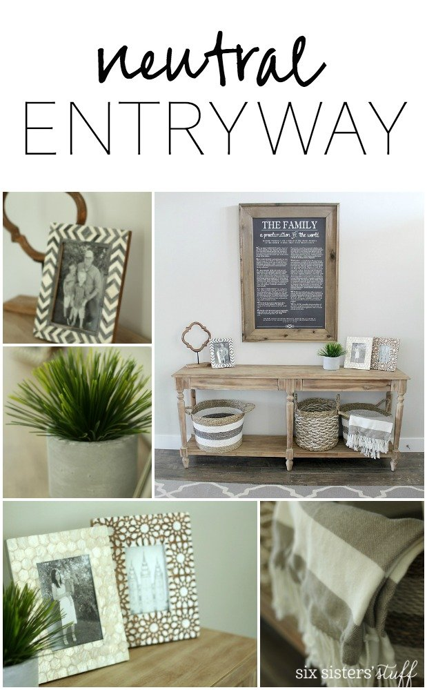 Neutral Entryway from SixSistersStuff.com
