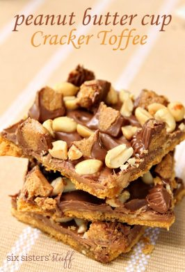 Peanut Butter Cup Cracker Toffee