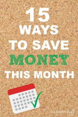 15 Ways to Save Money This Month