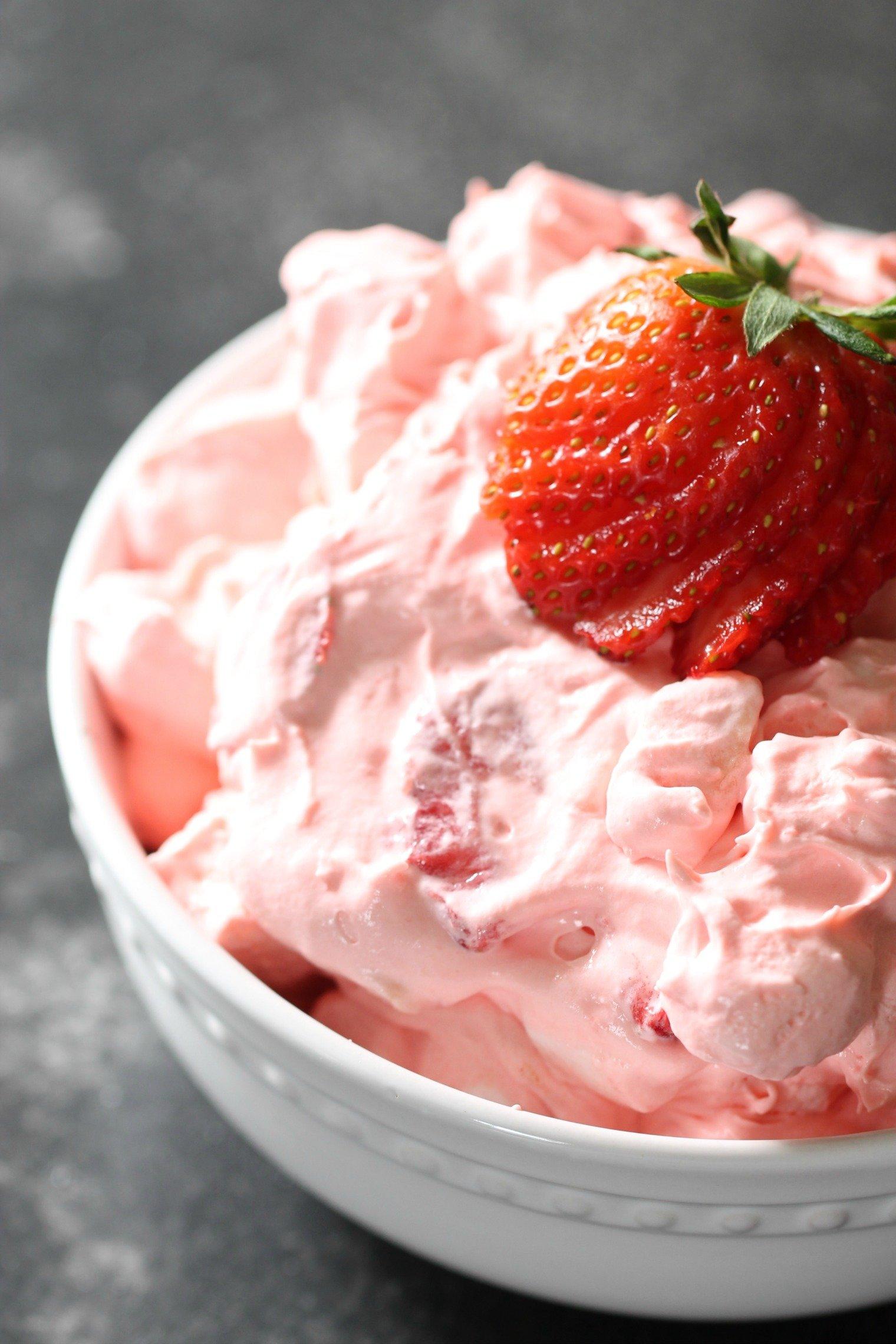 Strawberry Jello Cool Whip Fluff