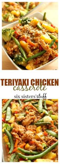 Teriyaki chicken casserole pin